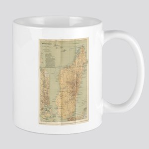 Vintage Map of Madagascar (1896) Mugs